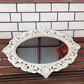 Зеркала ручной работы. Ярмарка Мастеров - ручная работа Резное зеркало из дуба. Handmade.