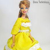 """Куклы и игрушки ручной работы. Ярмарка Мастеров - ручная работа Платье на куклу Барби """"Солнечный  лучик"""". Handmade."""