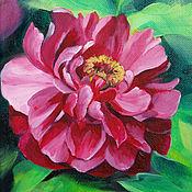 Картины и панно handmade. Livemaster - original item Diptych with peonies, oil on canvas 18h24. Handmade.
