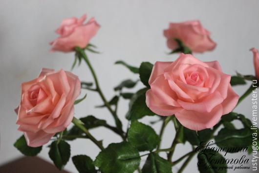 Цветы ручной работы. Ярмарка Мастеров - ручная работа. Купить Розы из полимерной глины (холодного фарфора). Цветы ручной работы. Handmade.