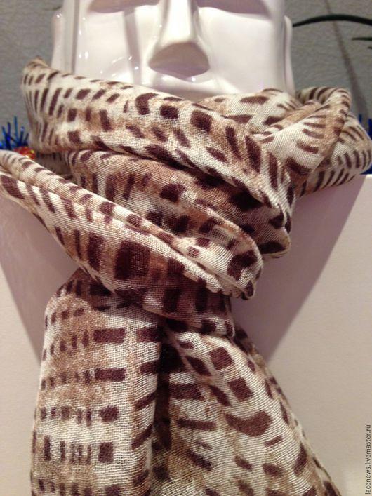 Винтажная одежда и аксессуары. Ярмарка Мастеров - ручная работа. Купить Шарф 100% шерсть мериноса тонкой выделки 55Х180 см новый. Handmade.