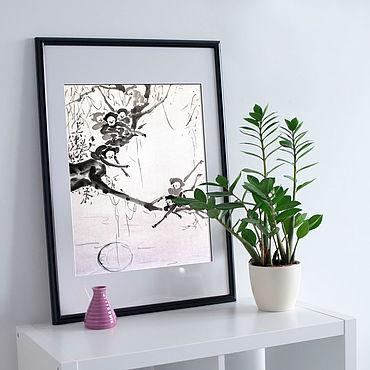 Картины и панно ручной работы. Ярмарка Мастеров - ручная работа Обезьяны ловят луну. Handmade.