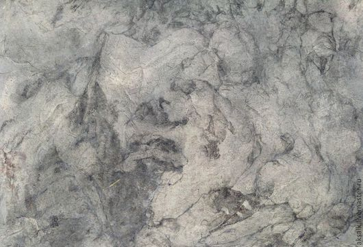 """Открытки и скрапбукинг ручной работы. Ярмарка Мастеров - ручная работа. Купить Бумага под мрамор """"Туман Андромеды"""". Handmade. Серый"""