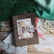 """Канцелярские товары ручной работы. Ярмарка Мастеров - ручная работа Блокнот """" В гостях у Тедди """". Handmade."""