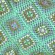 """Текстиль, ковры ручной работы. Ярмарка Мастеров - ручная работа. Купить Плед """"Мятный"""". Handmade. Мятный, плед крючком"""