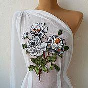Материалы для творчества handmade. Livemaster - original item Embroidery, lace, applique. Delicate rose. Handmade.
