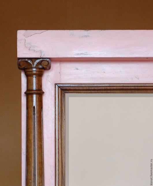 """Зеркала ручной работы. Ярмарка Мастеров - ручная работа. Купить Рама старинная с зеркалом """"Розовая 1"""". Handmade. Кремовый, прованс"""