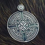 Русский стиль handmade. Livemaster - original item Medallion-Perunov color with Rotifers ( 3,8 cm ). Handmade.