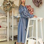 Одежда handmade. Livemaster - original item Dress blue style Vitakin. Handmade.