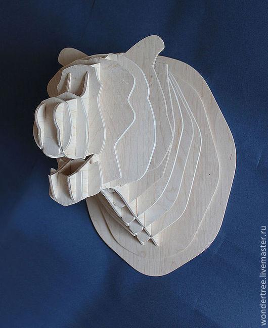 Элементы интерьера ручной работы. Ярмарка Мастеров - ручная работа. Купить Голова медведя. Handmade. Бежевый, Декор, трофей, сувенир