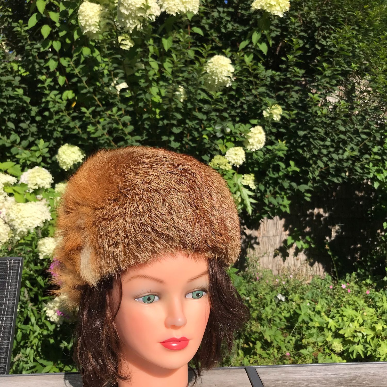 Fur hat 'Barbara', Holland, Vintage clothing, Arnhem,  Фото №1