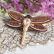 Украшения handmade. Livemaster - original item Brooch dragonfly