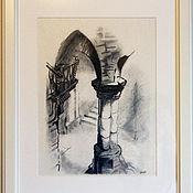 Картины и панно ручной работы. Ярмарка Мастеров - ручная работа Старый замок. Handmade.