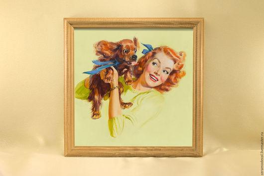 Животные ручной работы. Ярмарка Мастеров - ручная работа. Купить Милый щенок. Handmade. Разноцветный, плитка, керамическая плитка