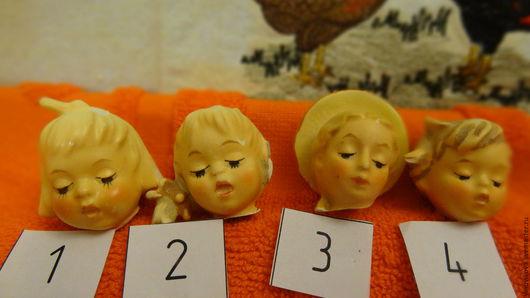 Коллекционные куклы ручной работы. Ярмарка Мастеров - ручная работа. Купить Антикварные головки (маленькие)-I. Handmade. Бежевый