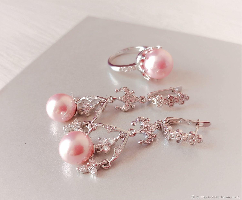Jewelry set with Mallorca Pearls, Jewelry Sets, Novosibirsk,  Фото №1