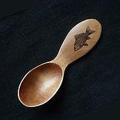 Посуда handmade. Livemaster - original item Hiking spoon fisherman from maple with the figure