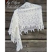 Аксессуары ручной работы. Ярмарка Мастеров - ручная работа белая шаль, ажурная шаль. Handmade.