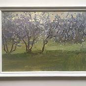 Картины и панно ручной работы. Ярмарка Мастеров - ручная работа Сумерки в вишневом саду. Handmade.
