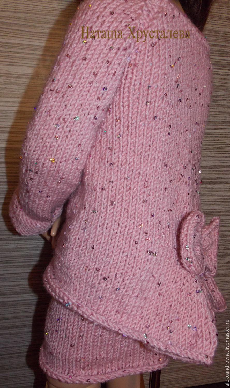 Вязаная юбка на кокетке для девочку