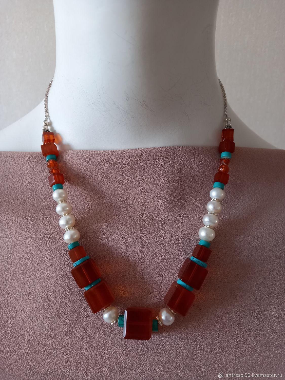 Vintage necklace ' amber and pearls', Vintage necklace, Orenburg,  Фото №1