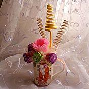 """Цветы и флористика ручной работы. Ярмарка Мастеров - ручная работа Букет из конфет """"Кокетка"""". Handmade."""