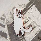 """Украшения ручной работы. Ярмарка Мастеров - ручная работа Брошка """"Saimon`s cat"""". Handmade."""