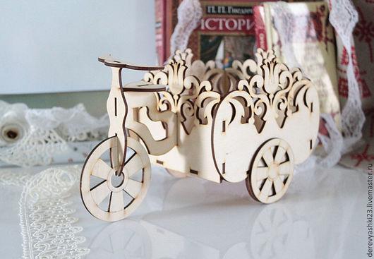 Кухня ручной работы. Ярмарка Мастеров - ручная работа. Купить Велосипед - конфетница с орнаментом. Handmade. Бежевый, велосипед для кухни, для декупажа