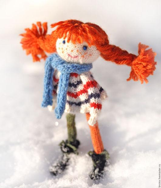 Коллекционные куклы ручной работы. Ярмарка Мастеров - ручная работа. Купить Кукла. Кукла вязаная интерьерная. Пеппи Длинный чулок. Handmade.
