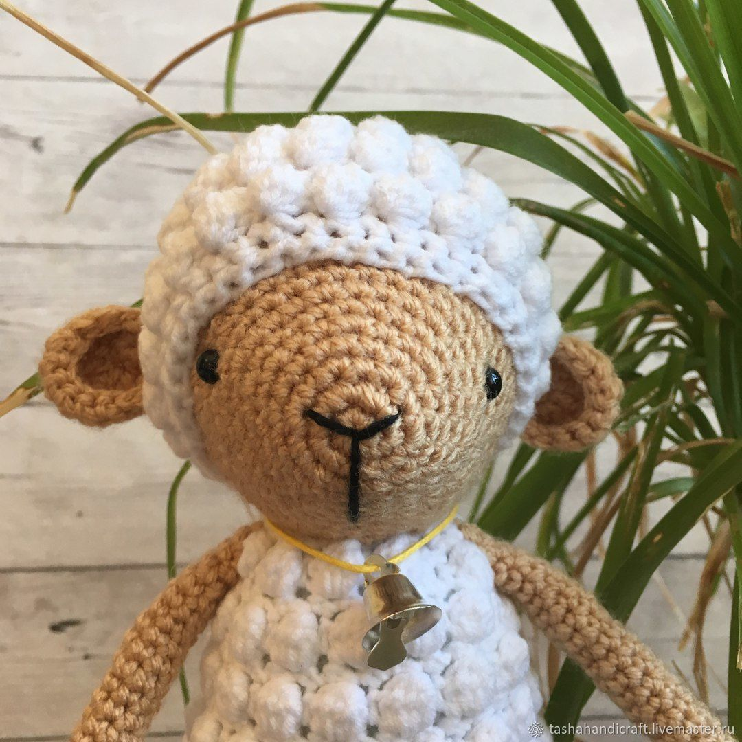 Knitted sheep with a bell – shop online on Livemaster with shipping ...