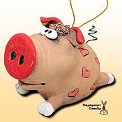 Сувениры и подарки handmade. Livemaster - original item Pig. Pig bell. Handmade.