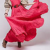 Одежда ручной работы. Ярмарка Мастеров - ручная работа Бохо платье 4-14 коралловый. Handmade.