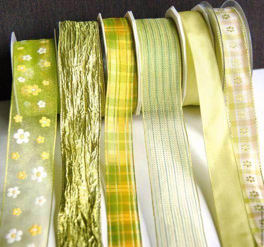 ленты Желто-зеленые для упаковки и отделки