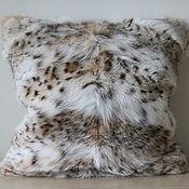 Для дома и интерьера handmade. Livemaster - original item Lynx fur pillow cover. Handmade.