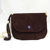 Сумки и аксессуары handmade. Livemaster - original item Brown suede handbag art. 304. Handmade.