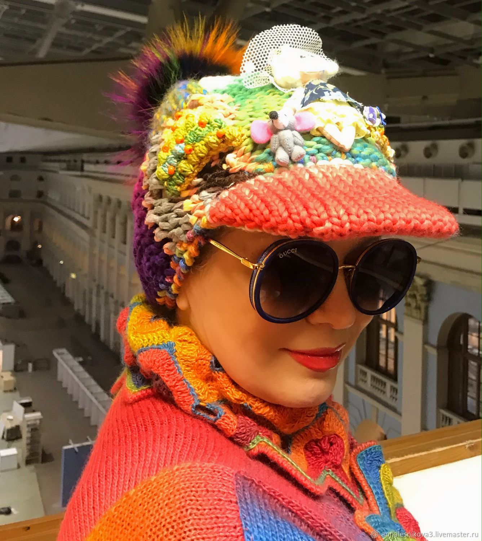 Шапка- кепарь ручной работы ЛАРИСКА! В СУМКУ!, Шапки, Москва,  Фото №1