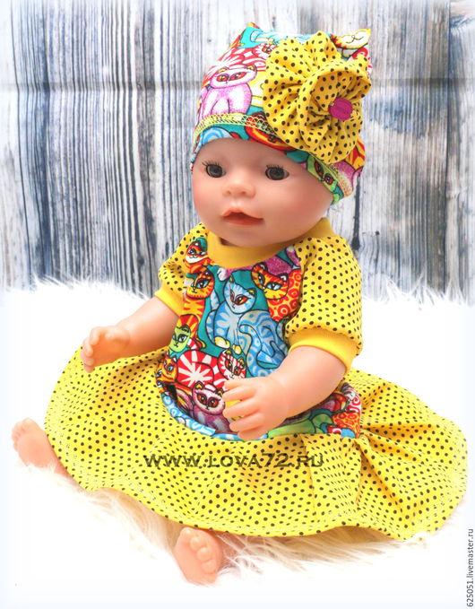 """Одежда для кукол ручной работы. Ярмарка Мастеров - ручная работа. Купить Комплект """"Котенок"""". Handmade. Комбинированный, одежда для беби бона"""