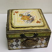 Для дома и интерьера handmade. Livemaster - original item Box: Alice in Wonderland. Handmade.