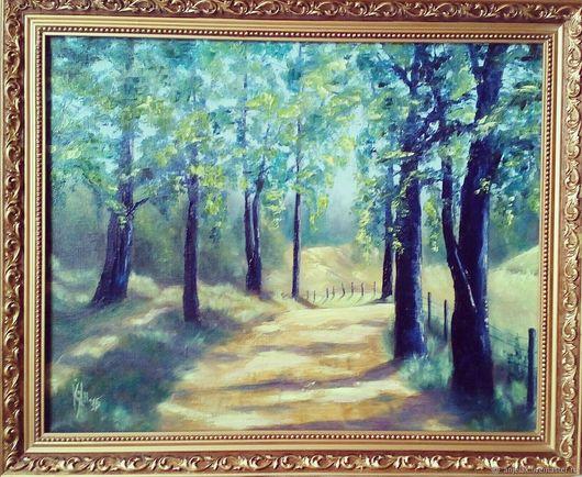 """Пейзаж ручной работы. Ярмарка Мастеров - ручная работа. Купить """"Лето"""". Handmade. Зеленый, блики, солнце, лес, парк, романтика"""