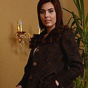 Одежда handmade. Livemaster - original item Coat with the fleece of SHETLAND. Handmade.