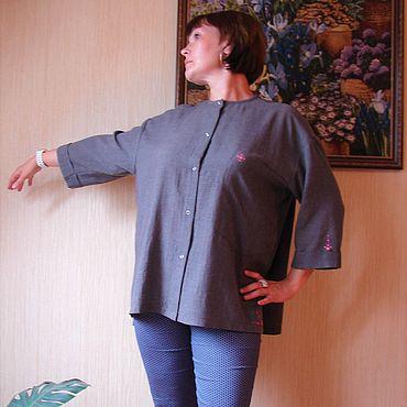 Одежда ручной работы. Ярмарка Мастеров - ручная работа Рубашки: Рубашка женская свободная. Handmade.