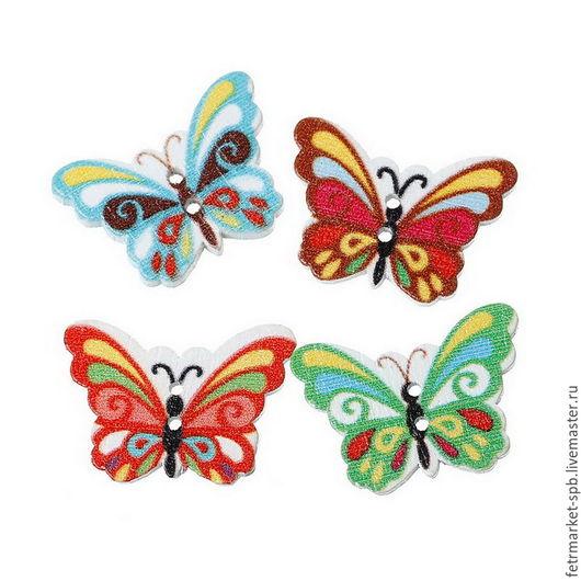 """Другие виды рукоделия ручной работы. Ярмарка Мастеров - ручная работа. Купить Пуговицы """"Бабочки"""" с 2-мя отверстиями. Handmade."""