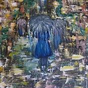 """Картины и панно ручной работы. Ярмарка Мастеров - ручная работа Картина """"Сказка ночного дождя"""".. Handmade."""