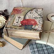 """Для дома и интерьера ручной работы. Ярмарка Мастеров - ручная работа Шкатулка-книга """"Вне времени"""". Handmade."""