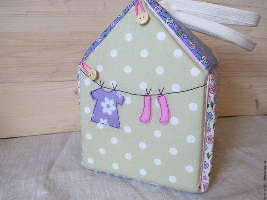 Кукольный дом ручной работы. Ярмарка Мастеров - ручная работа. Купить Кукольный домик-сумка. Handmade. Домик, для детей