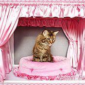 """Для домашних животных, ручной работы. Ярмарка Мастеров - ручная работа """"Нежность"""" Оформление выставочной палатки для кошки. Handmade."""