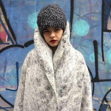 """Одежда ручной работы. Ярмарка Мастеров - ручная работа Пальто-оверсайз """"Зима близко"""". Handmade."""