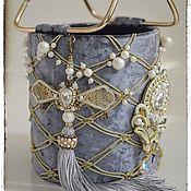 Сумки и аксессуары handmade. Livemaster - original item Sumqait velvet with soutache accessory. Handmade.