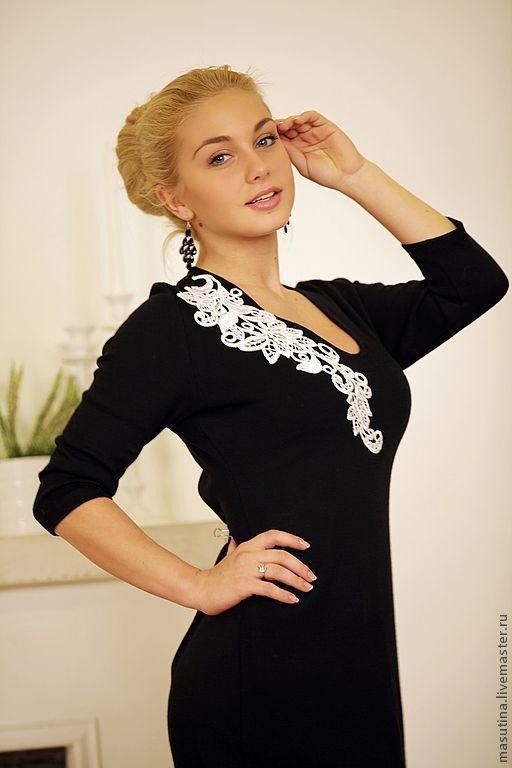 """Платья ручной работы. Ярмарка Мастеров - ручная работа. Купить Платье """"Венеция"""". Handmade. Чёрно-белый"""