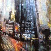 """Картины и панно ручной работы. Ярмарка Мастеров - ручная работа картина из шерсти """"Город"""". Handmade."""